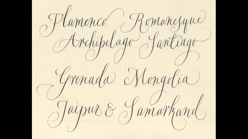 Modern calligrpahy pointed pen Ely Cambs,taught for wedding invitations and wide ranging purposes