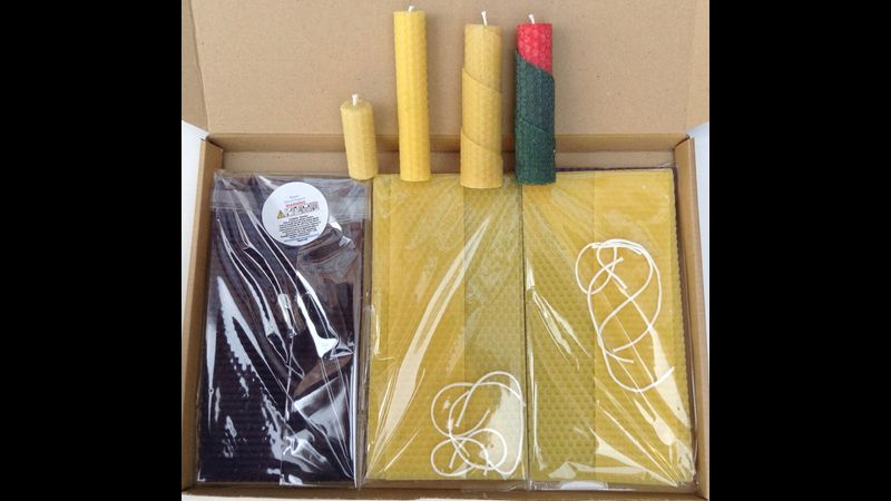 Example of a kit of parts (Candles for illustration only)