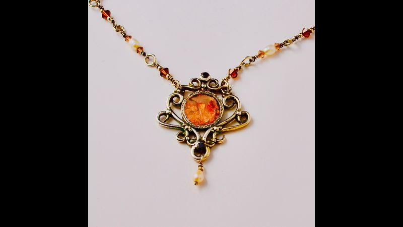 Opal Essence Inlay Silver Clay Jewellery by Tracey Spurgin