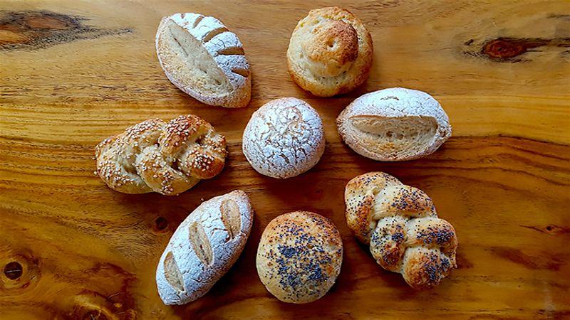 Gluten Free Sourdough Bread Roll Selection