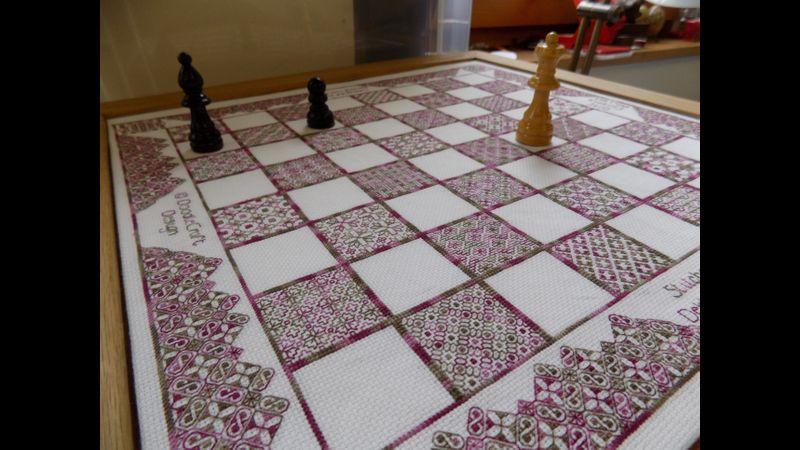DoodleCraft Design stitched chess board