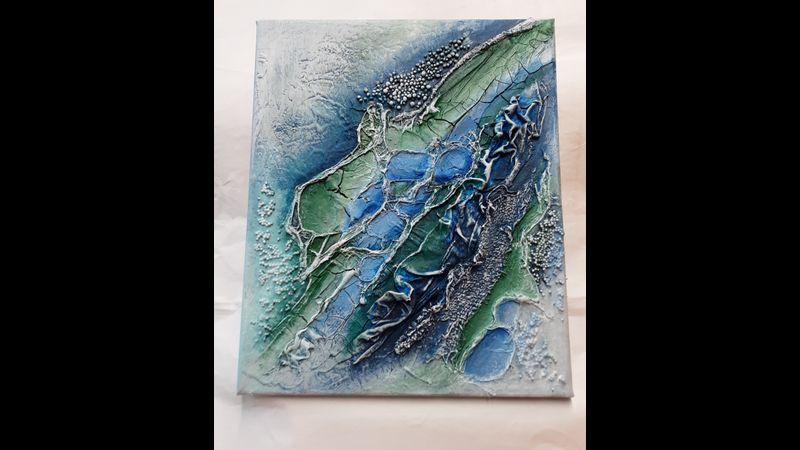"""""""Flow"""" Textured Canvas"""