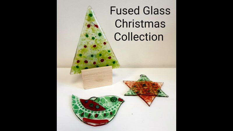 Crafts in the Valley - The Christmas Fused Glass Collection.