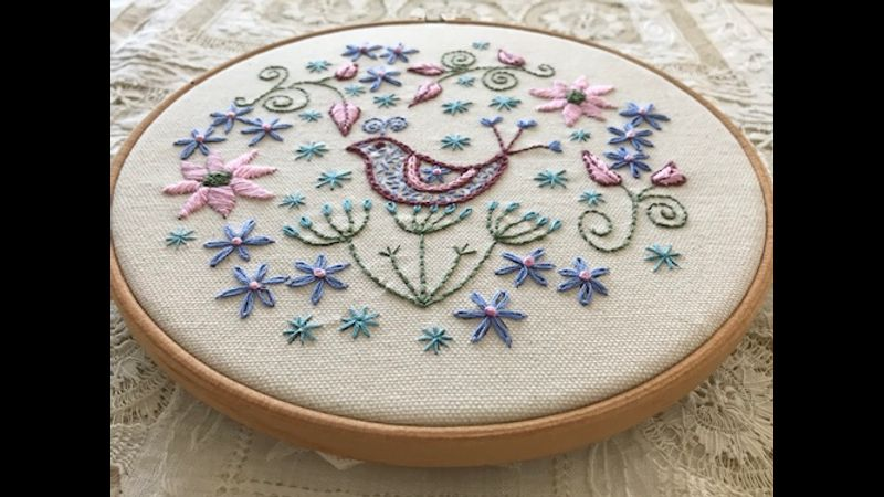 Embroidery kit - bird song