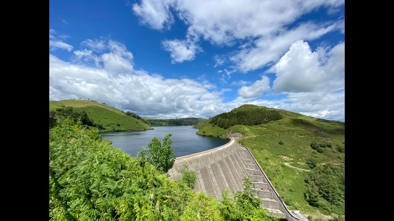View of Clywedog Reservoir from the Creative Hub