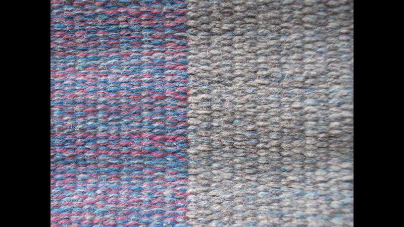 Block weave rug detail