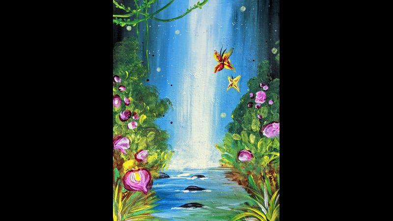 Painting Model: Magic Waterfall