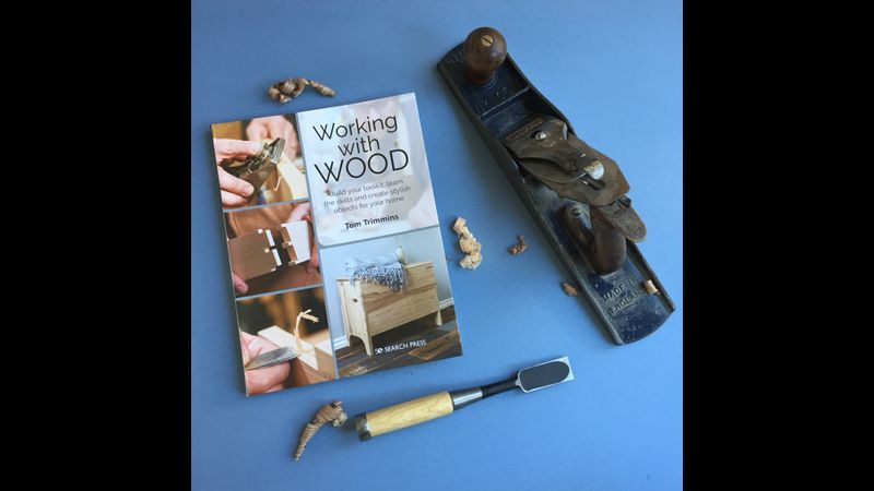 Book and tools-Working with wood by Tom Trimmins