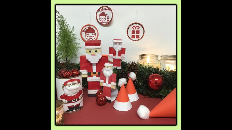 You and your family can make all of these cute Santas and hats