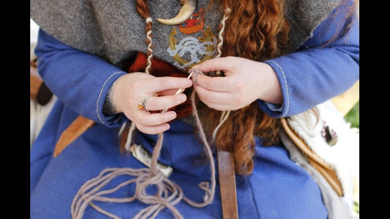 Nalbinding is the name for the historical precursor to knitting and crochet. Using a single needle and long lengths of fibre to create your items