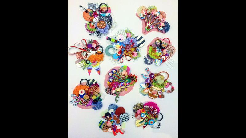 Jessica's stitched brooch examples