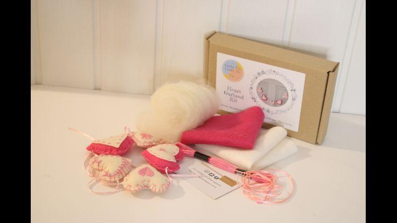 Heart Garland Kit Materials