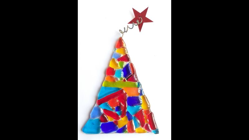 Glass fused Christmas Tree