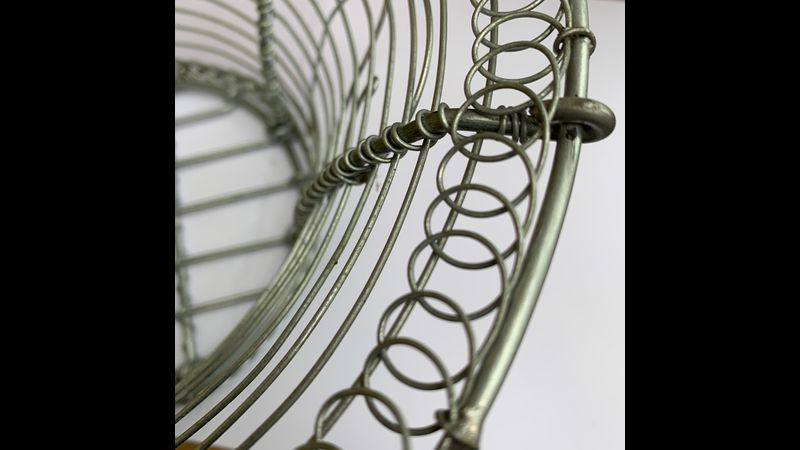 French wirework basket