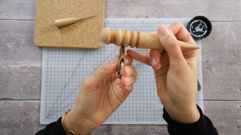 Finishing leather edges