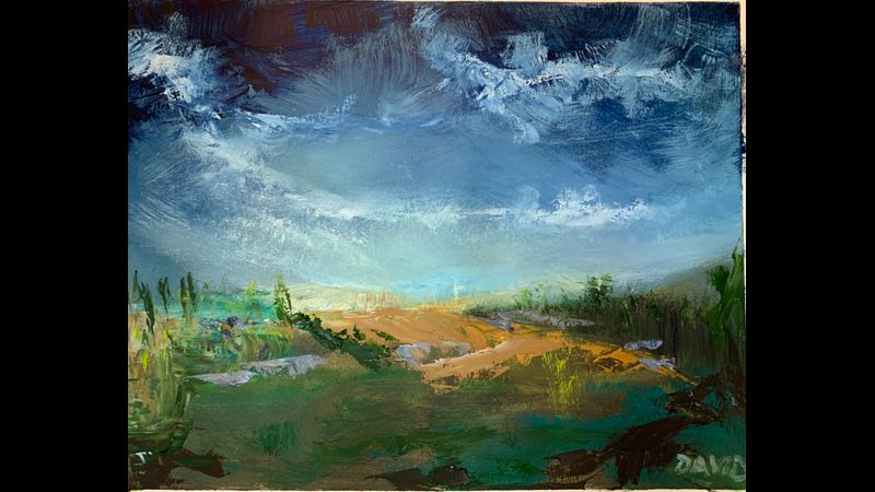 Ten Minute Landscape Exercise Intuitive Oil Painting with David Struwig