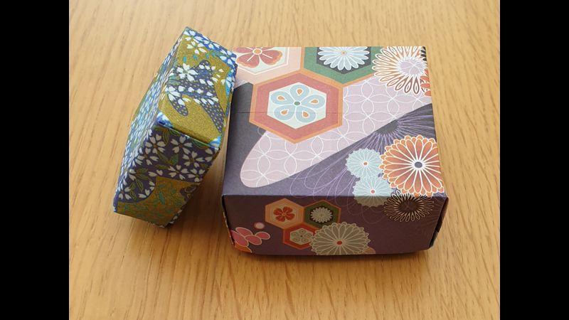 Two Masu boxes