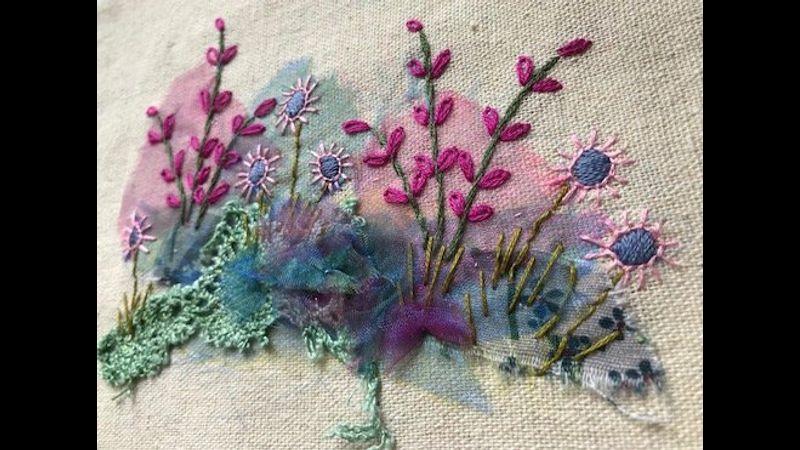Applique / embroidery kit garden border
