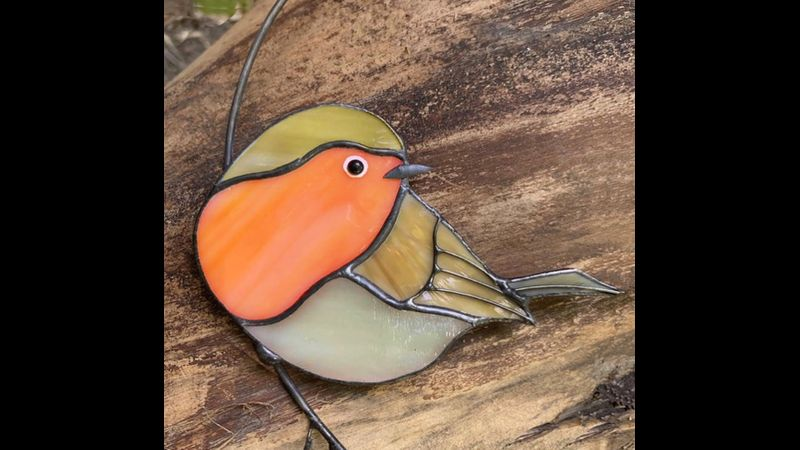 Stained glass robin making day