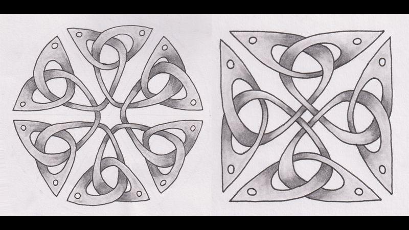 Hexagonal and Square Triquetras