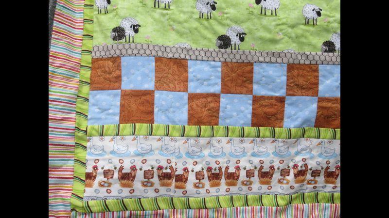 Farmyard Friends child's quilt