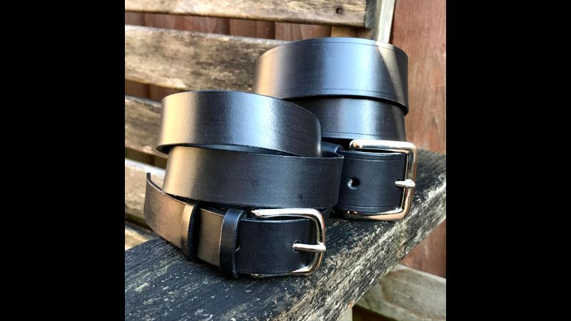 Leather belts that you could make on the course.