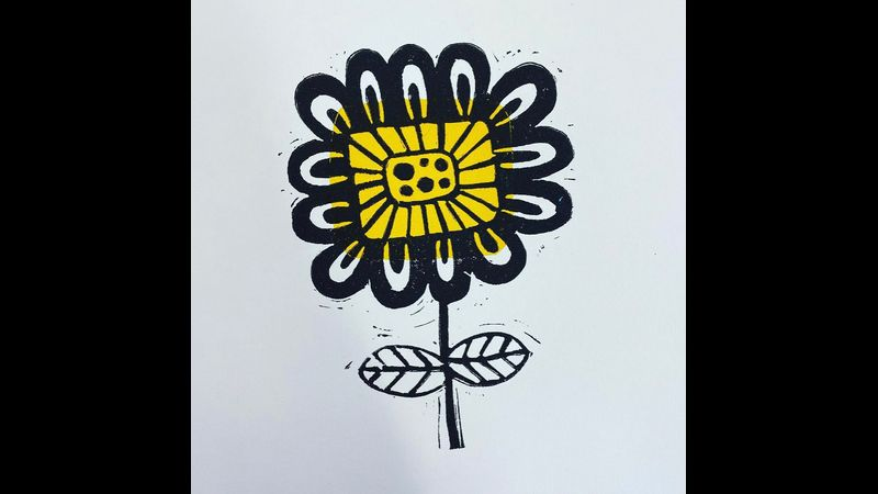 Perfect funky flower from workshops this summer
