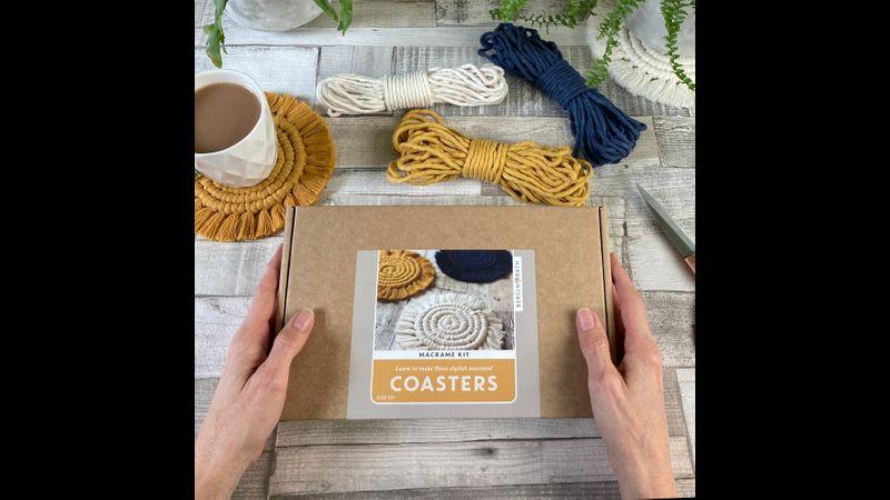 Macramé Coaster Kit - Yellow - Bergin & Bath