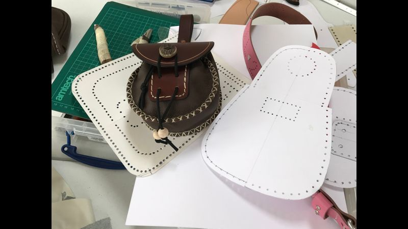 leather  bag and pattern
