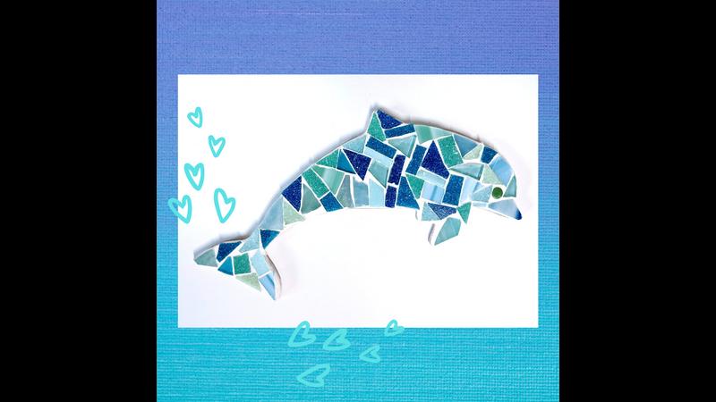 Dolphin Family Mosaic Kit