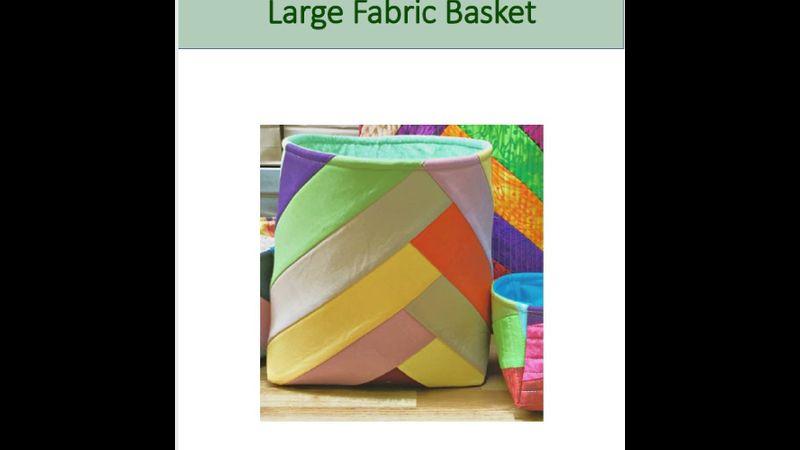 Pattern for large basket