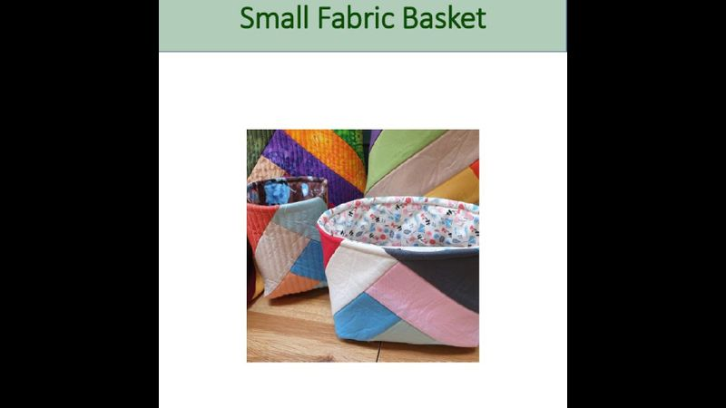 Patern for small basket