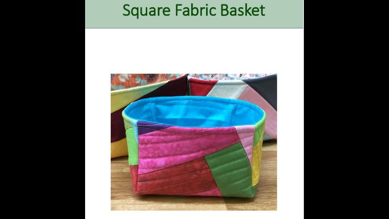 Pattern for square basket