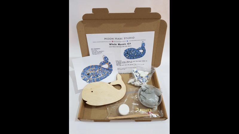 Whale mosaic kit