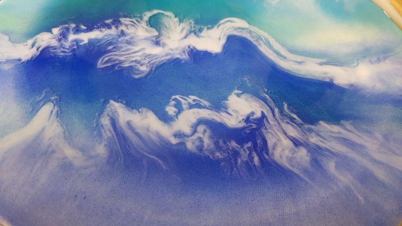 Resin art - Ocean themed