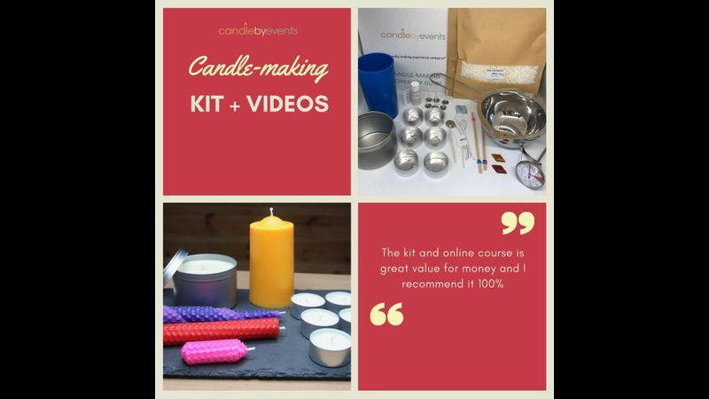 Candle making kit and online videos