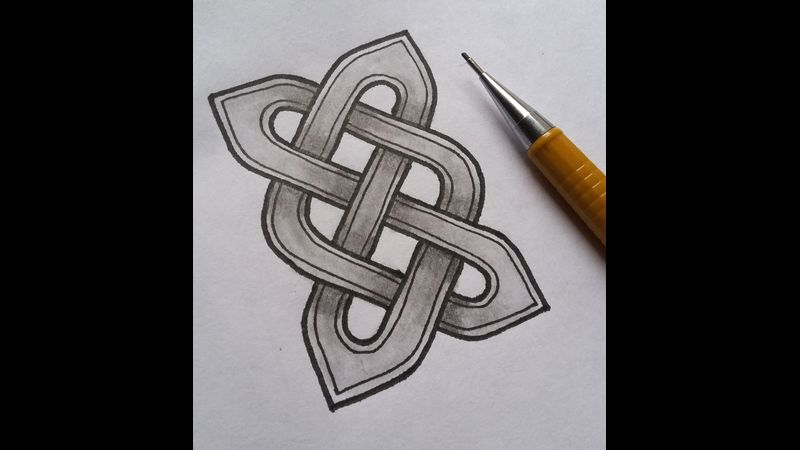 Learn how to draw this Celtic knot