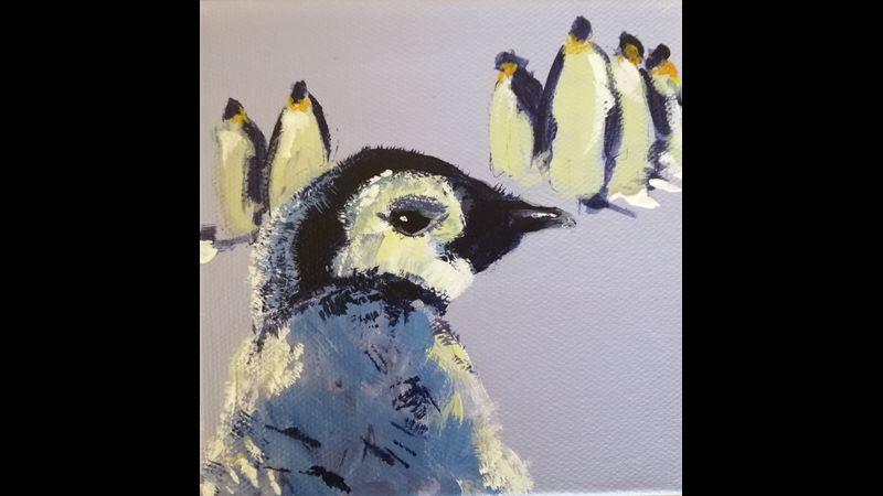 "ORIGINAL 5"" x 5"" baby penguin"