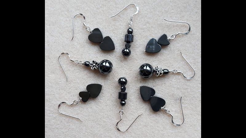 ♥  Hematite Earring Collections ♥