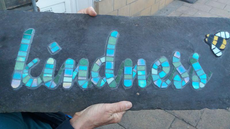 Mosaic writing.