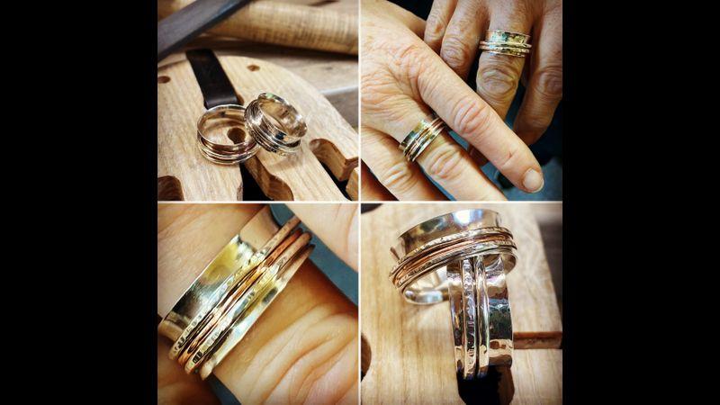 Spinner Ring Make Workshop Results.