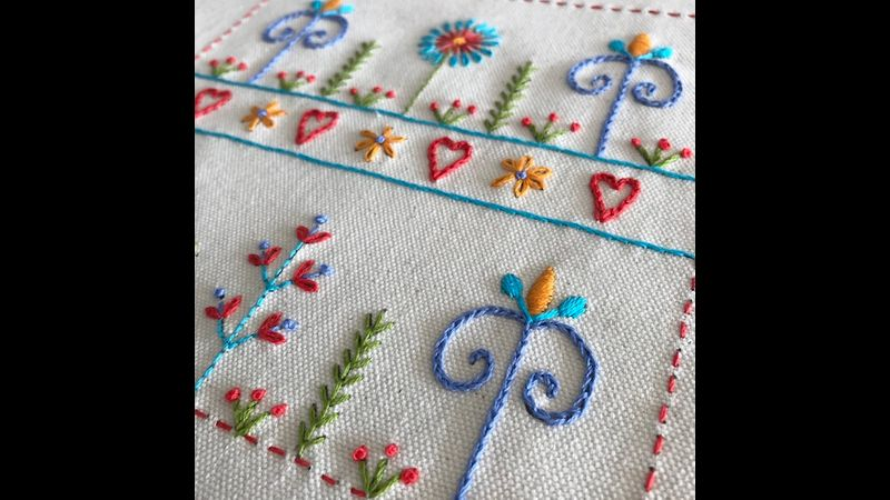 Embroidery kit - beautiful blossoms