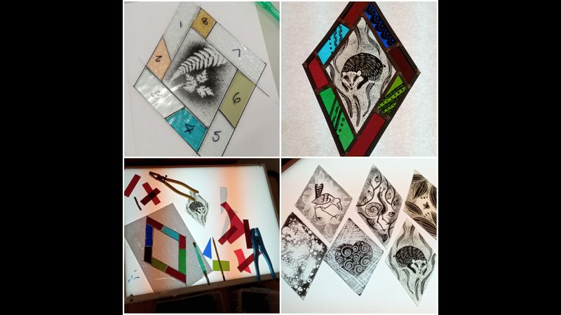Painted Stained Glass ideas.