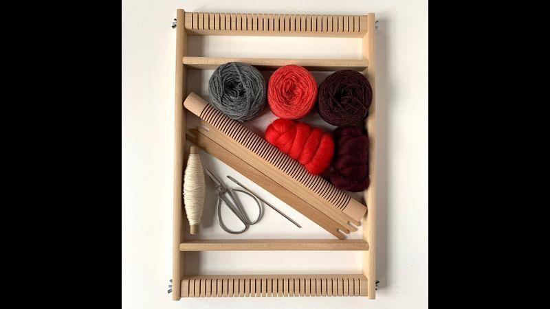 Weaving Loom Kit - Papaya | Burgundy
