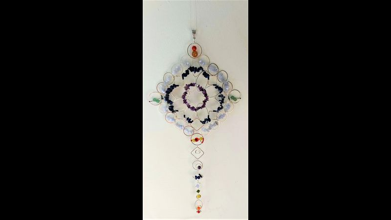 ♥ Holistic Crystal Chakra Wall Art  ♥ Details and Properties of Crystals in Description♥