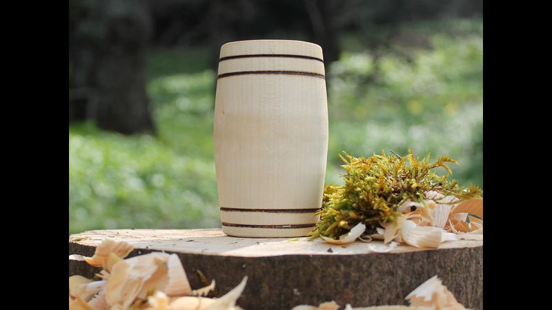 Sycamore barrel design tumbler
