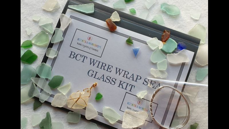 BCT KIT FOLDER & CONTENTS FOR SEA GLASS WIRE WRAP KIT