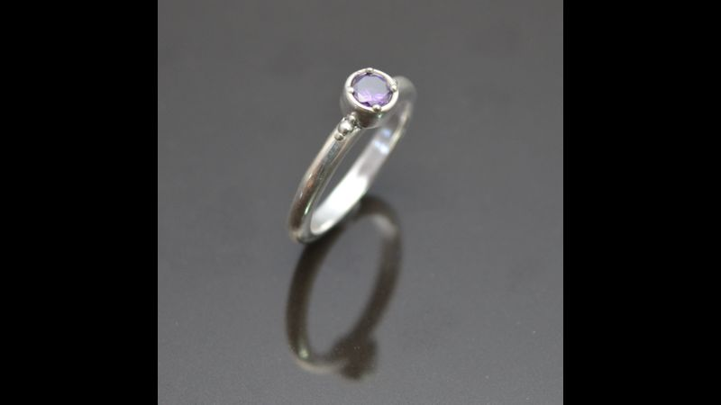 Amethyst Amour Ring by Tracey Spurgin of Craftworx Jewellery Workshops