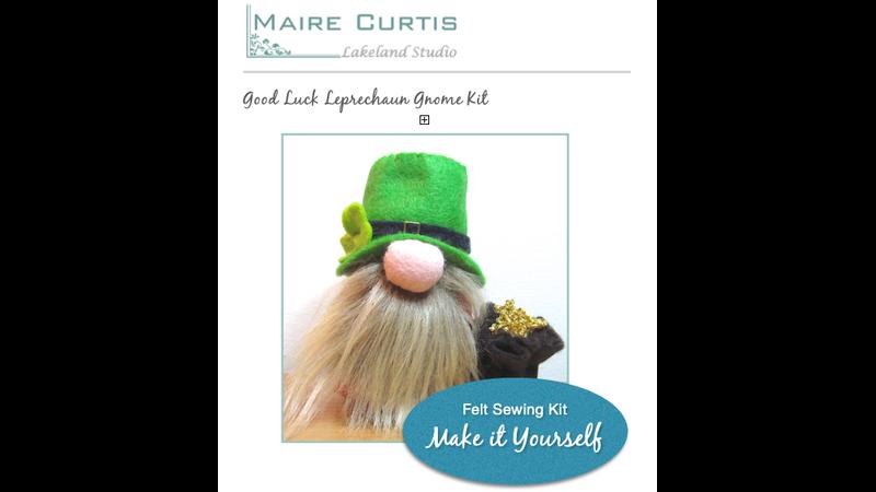 Make your own Lucky felt leprechaun Gnome