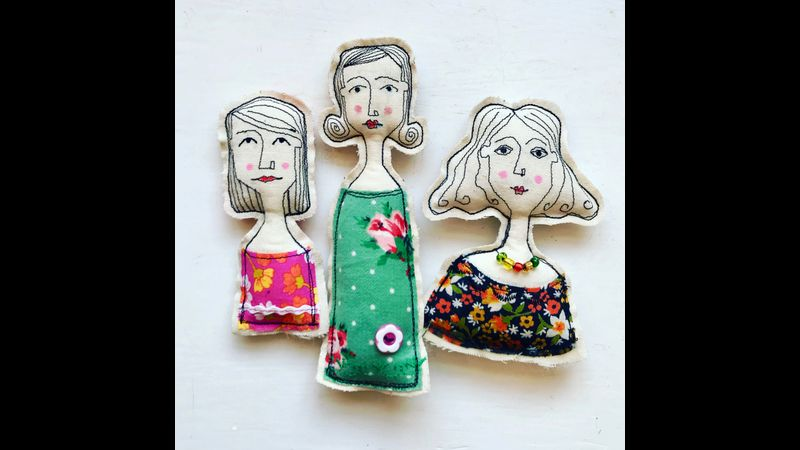 Fun Vintage Brooches at Cowshed Creative